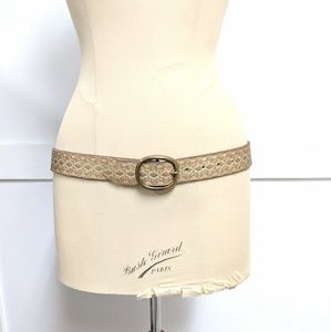 Target Leather Belt with gold embossed print 36